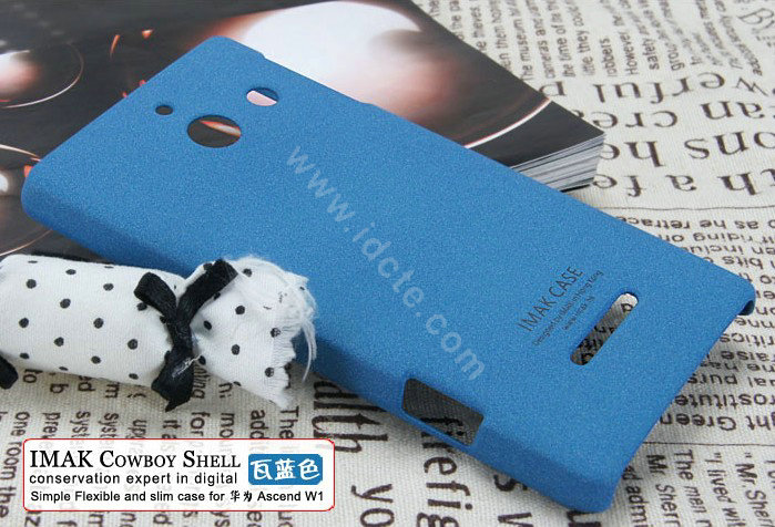 cover for huawei ascend w1 blue high transparent screen protector