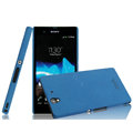 IMAK Cowboy Shell Hard Case Cover for Sony Ericsson L36i L36h Xperia Z - Blue