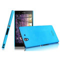 IMAK Ultrathin Matte Color Cover Hard Case for Sony Ericsson L36i L36h Xperia Z - Blue