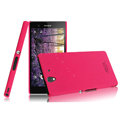 IMAK Ultrathin Matte Color Cover Hard Case for Sony Ericsson L36i L36h Xperia Z - Rose