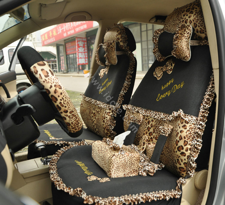 Leopard Seat Covers Set