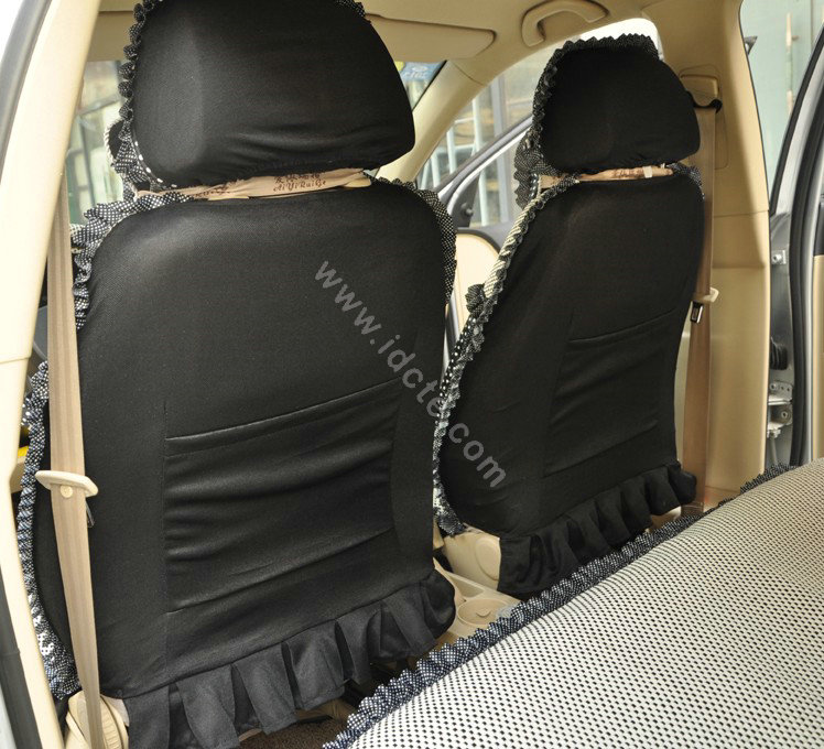 Buy Wholesale Round Dot Lace Universal Auto Car Seat Cover