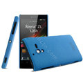 IMAK Cowboy Shell Hard Case Cover for Sony L35h Xperia ZL - Blue