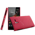 IMAK Cowboy Shell Hard Case Cover for Sony L35h Xperia ZL - Rose