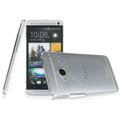 IMAK Crystal Case Hard Cover Transparent Shell for HTC One M7 801e - White