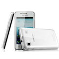IMAK Crystal Case Hard Cover Transparent Shell for Samsung i8258 - White