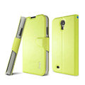 IMAK R64 lines leather Case support Holster Cover for Samsung GALAXY S4 I9500 SIV - Green
