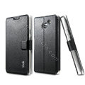 IMAK Slim leather Case support Holster Cover for HUAWEI Ascend D2 - Black