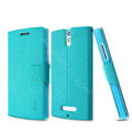 IMAK Squirrel lines leather Case support Holster Cover for OPPO X909 Find 5 - Blue