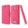 IMAK Squirrel lines leather Case support Holster Cover for OPPO X909 Find 5 - Rose