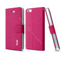 IMAK Squirrel lines leather Case support Holster Cover for iPhone 5 - Rose