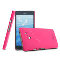 IMAK Ultrathin Matte Color Cover Hard Case for HUAWEI Ascend D2 - Rose