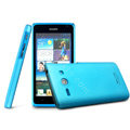 IMAK Ultrathin Matte Color Cover Hard Case for HUAWEI C8813 - Blue