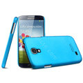 IMAK Ultrathin Matte Color Cover Hard Case for Samsung GALAXY S4 I9500 SIV - Blue