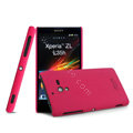 IMAK Ultrathin Matte Color Cover Hard Case for Sony L35h Xperia ZL - Rose