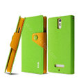IMAK cross leather case Button holster holder cover for OPPO X909 Find 5 - Green