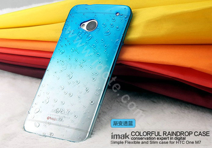 htc one m7 colors. name:imak colorful raindrop case hard cover for htc one m7 801e - gradient blue htc colors