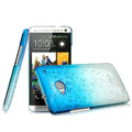 Imak Colorful raindrop Case Hard Cover for HTC One M7 801e - Gradient Blue