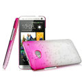 Imak Colorful raindrop Case Hard Cover for HTC One M7 801e - Gradient Rose
