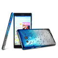 Imak Colorful raindrop Case Hard Cover for HUAWEI Ascend Mate X1 - Gradient Blue
