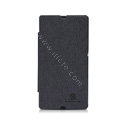 Nillkin England Retro Leather Case Holster Cover for Sony Ericsson L36i L36h Xperia Z - Black