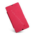 Nillkin England Retro Leather Case Holster Cover for Sony Ericsson L36i L36h Xperia Z - Red