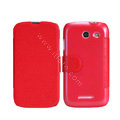 Nillkin Fresh leather Case Bracket Holster Cover Skin for Coolpad 5890 - Red