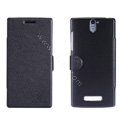 Nillkin Fresh leather Case Bracket Holster Cover Skin for OPPO X909 Find 5 - Black