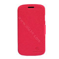 Nillkin Fresh leather Case Bracket Holster Cover Skin for Samsung i829 Galaxy Style Duos - Red