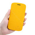 Nillkin Fresh leather Case Bracket Holster Cover Skin for Samsung i829 Galaxy Style Duos - Yellow