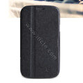 Nillkin Fresh leather Case Bracket Holster Cover Skin for Samsung i879 - Black