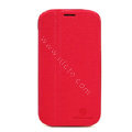 Nillkin Fresh leather Case Bracket Holster Cover Skin for Samsung i879 - Red