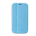 Nillkin Fresh leather Case Bracket Holster Cover Skin for Samsung i9080 i9082 Galaxy Grand DUOS - Blue