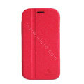 Nillkin Fresh leather Case Bracket Holster Cover Skin for Samsung i9080 i9082 Galaxy Grand DUOS - Red