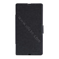 Nillkin Fresh leather Case Bracket Holster Cover Skin for Sony Ericsson L36i L36h Xperia Z - Black