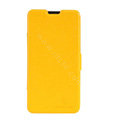 Nillkin Fresh leather Case Bracket Holster Cover Skin for ZTE V987 - Yellow