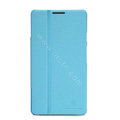 Nillkin Fresh leather Case button Holster Cover Skin for HUAWEI Ascend Mate X1 - Blue