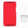 Nillkin leather Case Holster Cover Skin for HTC One M7 801e - Red