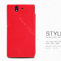 Nillkin leather Case Holster Cover Skin for Sony Ericsson L36i L36h Xperia Z - Red