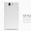 Nillkin leather Case Holster Cover Skin for Sony Ericsson L36i L36h Xperia Z - White