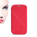 Nillkin leather Cases Holster Skin Cover for Samsung GALAXY S4 I9500 SIV - Red