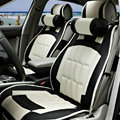 FORTUNE Custom Auto Car Seat Cover Cushion Set artificial leather - Beige Black