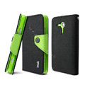 IMAK Cross leather Case Button Holster Cover for Sony Ericsson M35h Xperia SP - Black