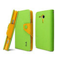 IMAK Cross leather Case Button Holster Cover for Sony Ericsson M35h Xperia SP - Green