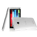 IMAK Crystal Case Hard Cover Transparent Shell for HTC One 802t - White