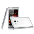IMAK Crystal Case Hard Cover Transparent Shell for Sony Ericsson M35h Xperia SP - White