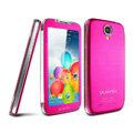 IMAK Mirror Battery Cover One-piece leather Case for Samsung GALAXY S4 I9500 SIV - Rose