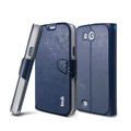IMAK R64 lines leather Case Support Holster Cover for Samsung i879 i9128V - Dark blue