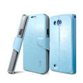 IMAK R64 lines leather Case Support Holster Cover for Samsung i879 i9128V - Sky blue