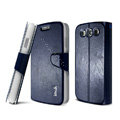 IMAK R64 lines leather Case Support Holster Cover for Samsung i939D GALAXY SIII - Dark blue